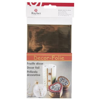 Decor metallic foil, 20x30 cm, gullfarget, 1/Pkg