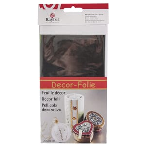 Decor metallic foile, 20x30 cm, anthrazit, 1/Pkg