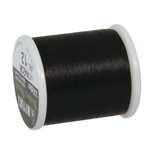 Nylon tråd for smykkelaging - Sort, 0,27 mm x 50 m