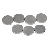 Magnet, dia 6 mm, tykkelse 1 mm, 20/Pkg