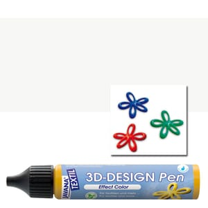 JAVANA TEXTIL 3D Design Pen White 29 ml