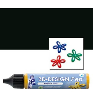 JAVANA TEXTIL 3D Design Pen Black 29 ml