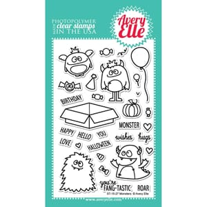 Avery Elle: Monsters - Clear Stamp Set