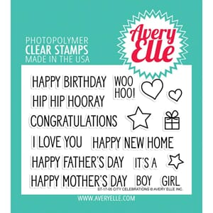 Avery Elle: City Celebrations Clear Stamp Set