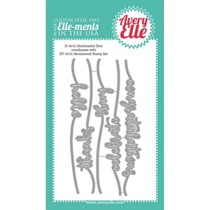 Avery Elle: Sentimental Elle-Ments Dies, 5/Pkg