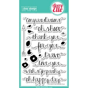 Avery Elle: Oh Happy Day - Clear Stamp Set