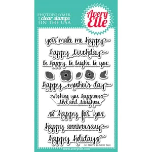 Avery Elle: So Happy - Clear Stamp Set