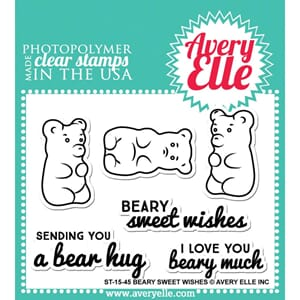 Avery Elle: Beary Sweet Wishes  - Clear Stamp Set