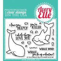 Avery Elle: Whale Hello - Clear Stamp Set