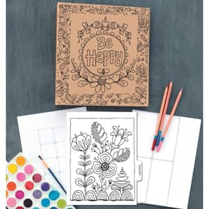 Adorn-It: ArtPlay Kraft 3-Ring Binder Planner, 8x10 inch