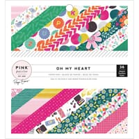 Pink Paislee: Oh My Heart Paper Pad 6x6, 36/Pkg