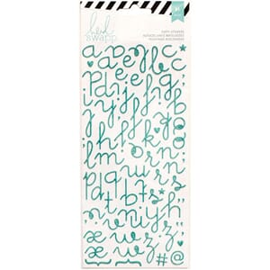 Heidi Swapp: Puffy Alphabet/Teal Glitter - Specialty Sticker