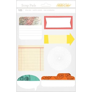 Studio Calico: Wanderlust Scrap Pads Sticky Notes, 105/Pkg