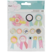American Craft: Dear Lizzy Happy Place Brads 13/Pkg