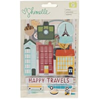 American Craft: Shimelle G0 Now Go Chipboard Sticker