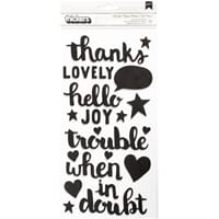 American Crafts: Hello Joy Phrase/Black & White Foam Thicker