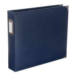 Project Life: Cobalt - Classic Faux Leather D-Ring Album
