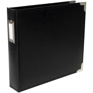 Project Life: 8x8 Black Classic Faux Leather D-Ring Album