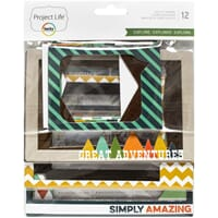 Project Life: Explore Die-Cut Chipboard Photo Frames 12/Pkg