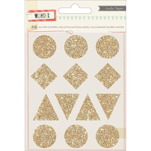 Crate Paper: Shapes - Wonder Glitter Stickers 4/Sheets