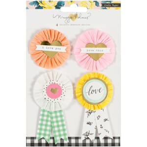 Crate Paper: Delights Maggie Holmes Bloom Embellishments 4/P