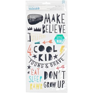 Crate Paper: Boys/Puffy Cool Kid Thickers Stickers