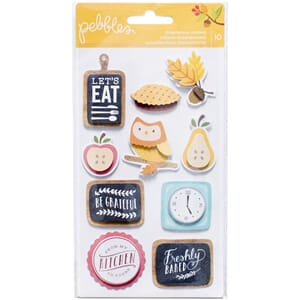 Pebbles: Harvest Layered Stickers, 10/Pkg