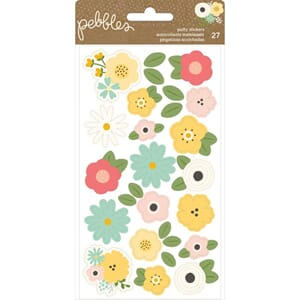 Pebbles: Flowers Spring Fling Puffy Stickers