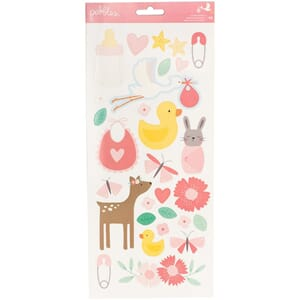 Pebbles: Baby Girl Icons & Accents Lullaby Stickers, 2/Pkg