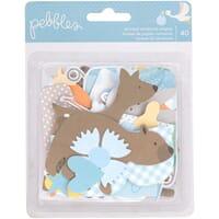 Pebbles: Baby Boy Lullaby Ephemera Cardstock Die-Cuts 40/Pkg