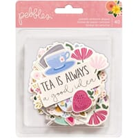 Pebbles: Tealightful Ephemera Die-Cuts 40/Pkg