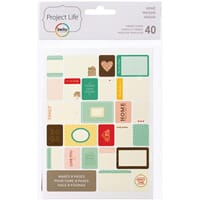 Project Life: Home -  Themed Cards 40/Pkg