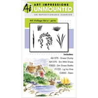 Art Impressions: Foliage Set 2 - Watercolor Cling Stamps