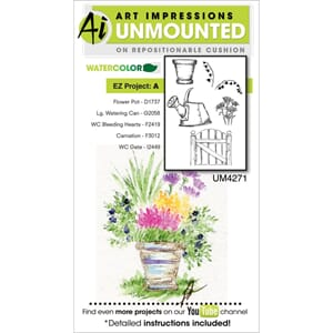 Art Impressions: EZ Project A - Watercolor Cling Stamps