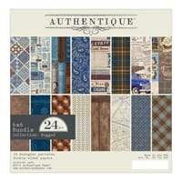 Authentique: Rugged Cardstock Pad, 6x6, 24/Pkg
