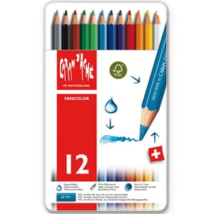 Caran d'ache: Fancolor Colour Pencils, 12/Pkg