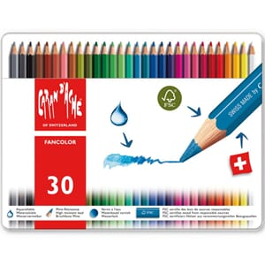 Caran d'ache: Fancolor Colour Pencils, 30/Pkg
