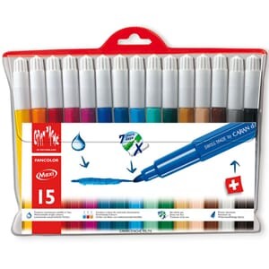 Caran d'ache: Fancolor Colour Pens, 15/Pkg