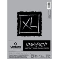 Canson: XL Rough Newsprint Paper Pad, 100 sheets