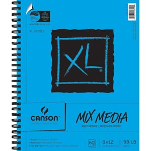 Canson: Mix Media Spiral Paper Pad - 60 ark, 23x30 cm