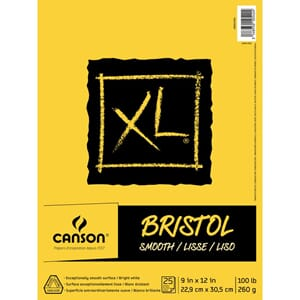 Canson: XL Recycled Bristol Paper Pad, 9x12 inch