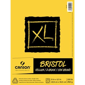 Canson: XL Recycled Bristol Vellum Paper Pad, 9x12 inch