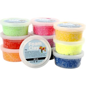 Foam Clay® , ass. farger, basic, 10x35g