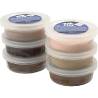 Silk Clay® , Skin colors, standard, 6x14gr