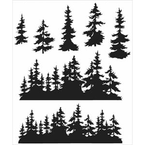 Tim Holz: Tree Line - Cling Rubber Stamp Set
