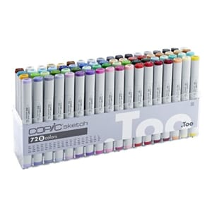Copics Sketch - Set B, 72/Pkg