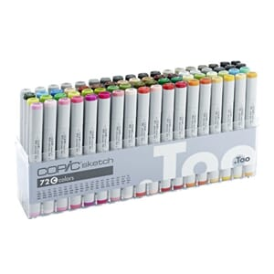Copics Sketch - Set C, 72/Pkg