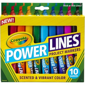Crayola: Power Lines Project Markers, 10/Pkg