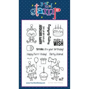 Your Next Stamps: Party Animals - Clear Stamps, 4x6