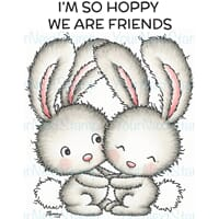 Your Next Stamp: Hoppy Friends Clear Stamps, 4x4 inch